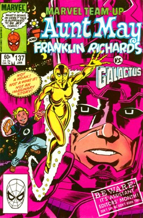 Marvel Team-Up (1972) #137, cover penciled by Ron Frenz & inked by Mike Esposito.