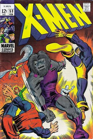 X-Men (1963) #53, cover penciled by Barry Windsor-Smith & inked by Mike Esposito.