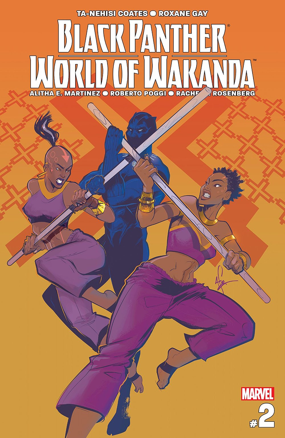 Black Panther_World Of Wakanda (2017) #2, cover by Afua Richardson.