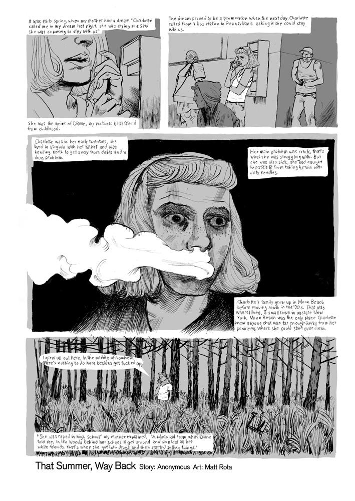 That Summer, Way Back  pg1, drawn by Matt Rota