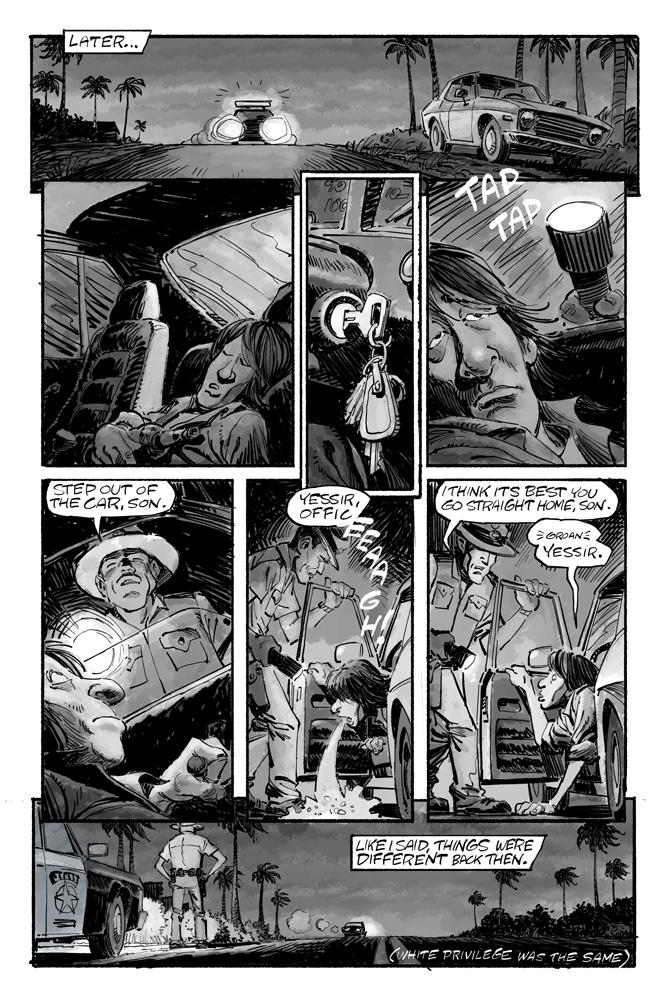 Whiskey-A-No-Go  pg2, drawn by Gideon Kendall.