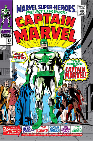 Marvel Super-Heroes (1967) #12, cover penciled by Gene Colan, inked by Frank Giacola, & colored by Stan Goldberg.