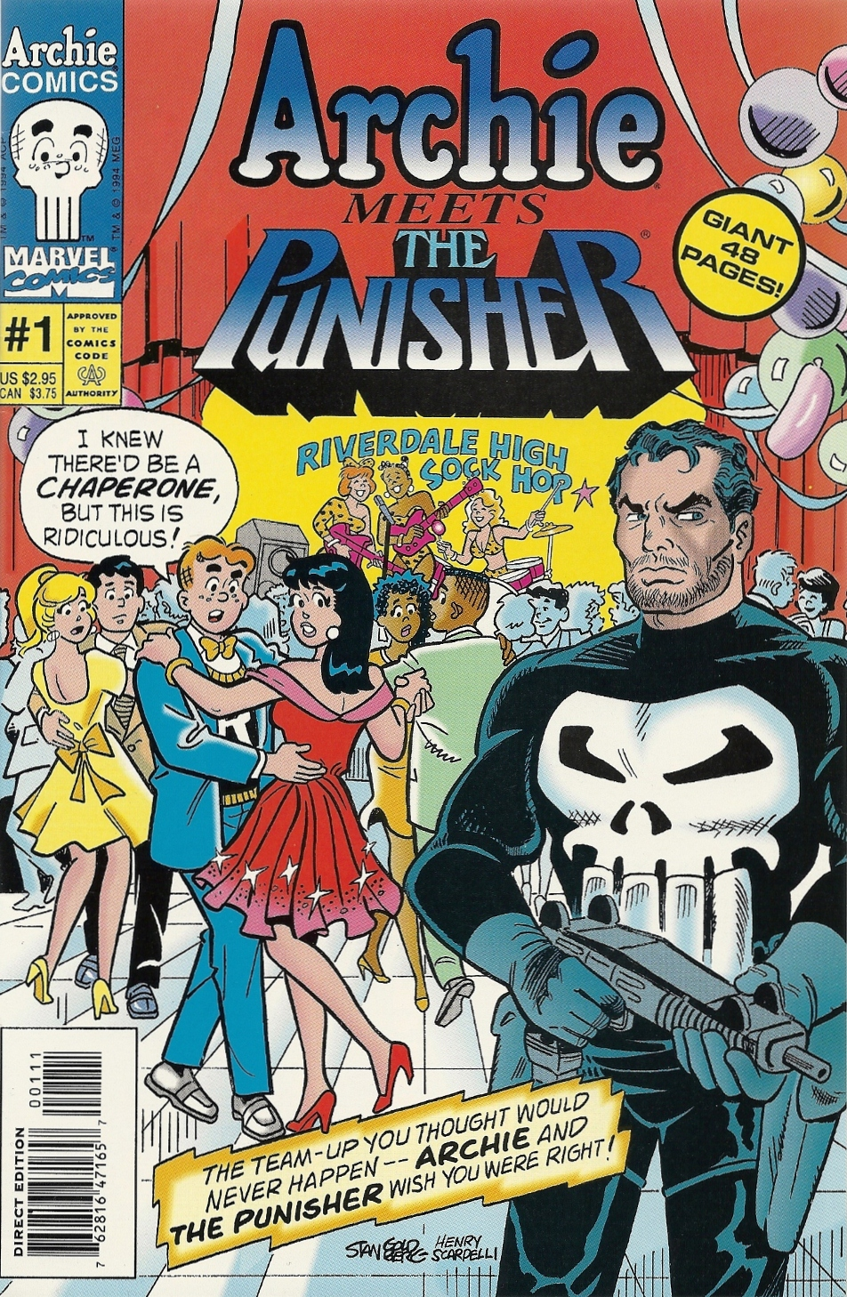 Archie Meets the Punisher (1994) #1, cover by Stan Goldberg.