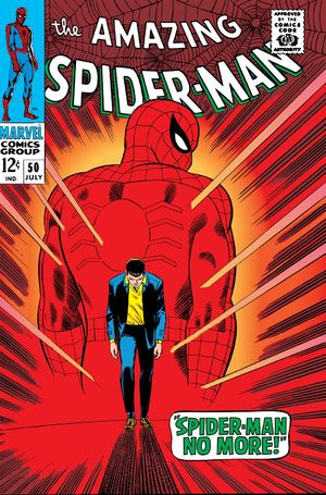 Amazing Spider-Man (1963) #50, cover penciled & inked by John Romita Sr. and colored by Stan Goldberg.