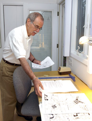 Stan Goldberg at his desk, 2008.