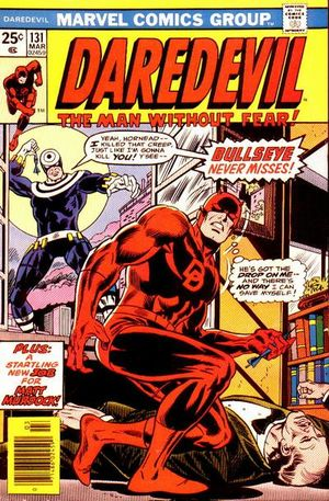 Daredevil (1964) #131, written by Marv Wolfman.
