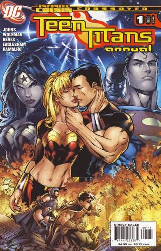 Teen Titans Annual (2006) #1, written by Geoff Johns & Marv Wolfman.