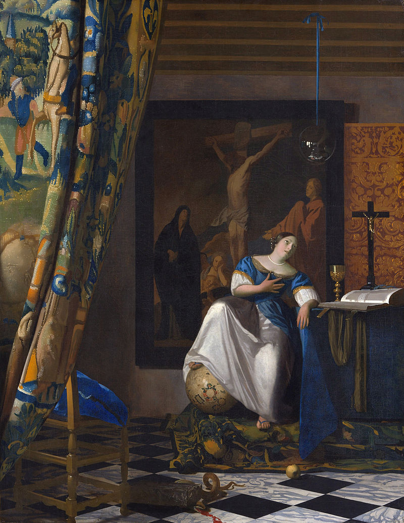 Allegory of the Faith  (c.1671), painted by Johannes Vermeer.