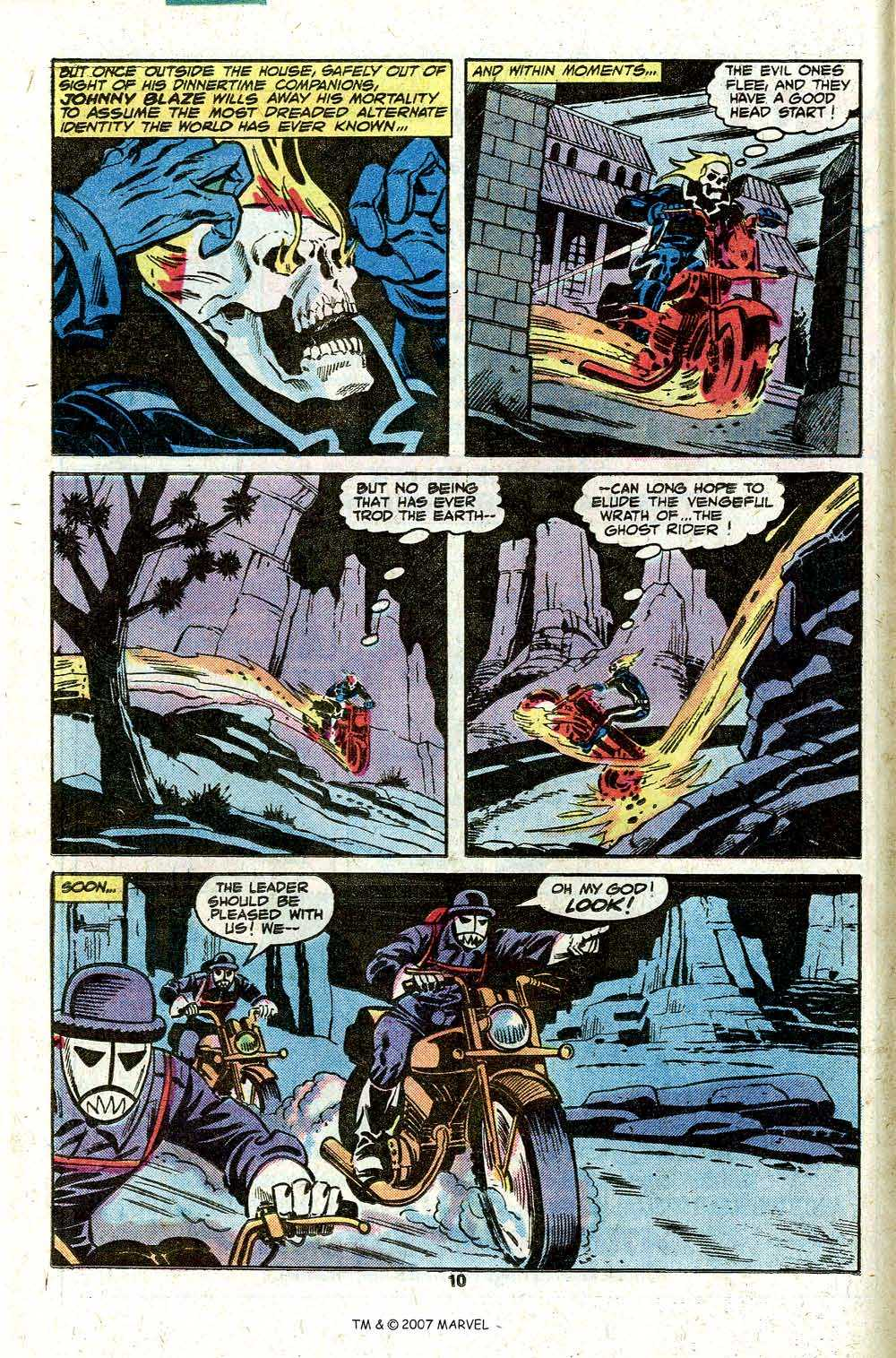 Ghost Rider (1973) #39 pg.12, lettered by Clem Robins.
