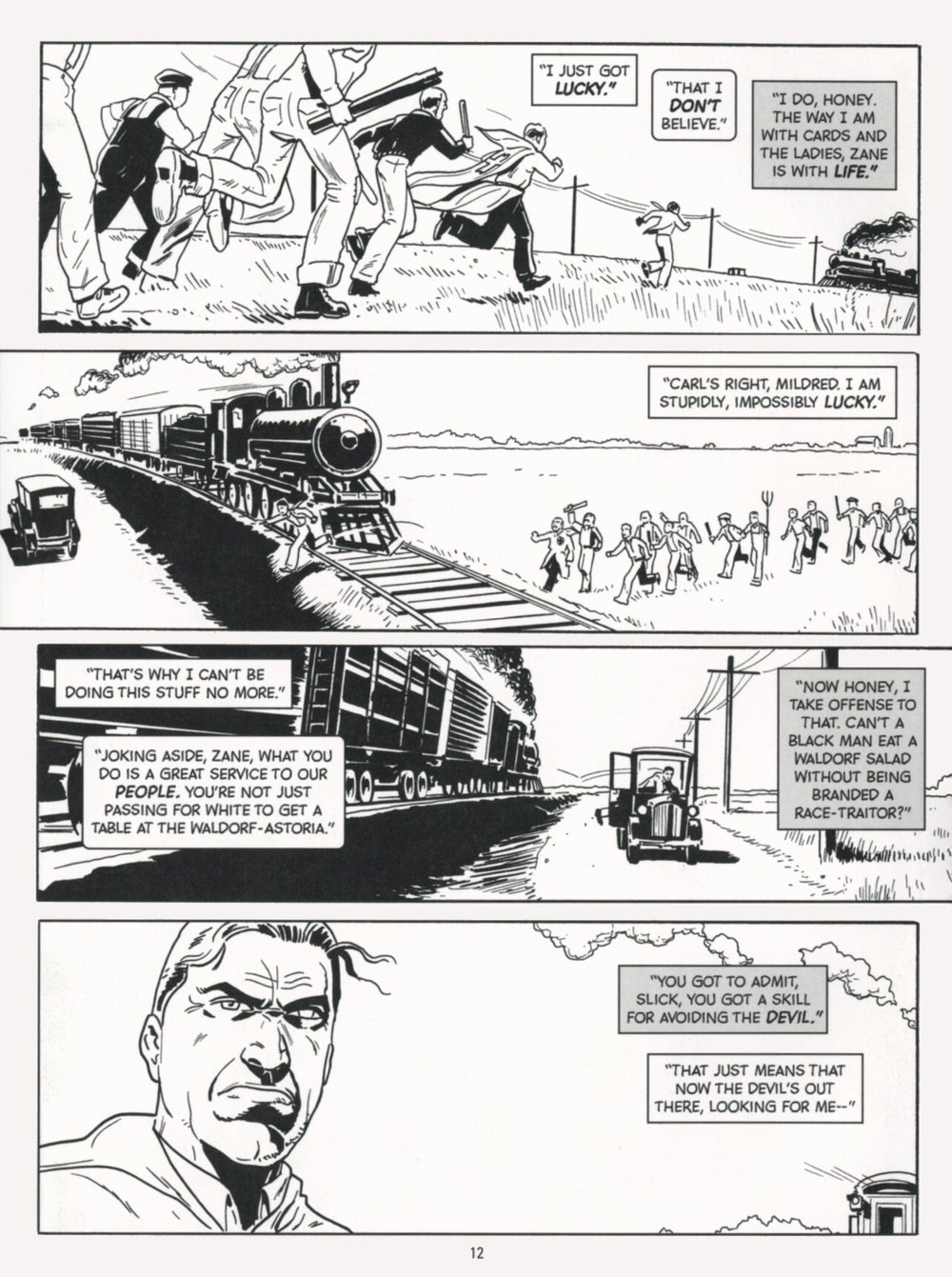 Incognegro (2008) #1 pg.16, lettered by Clem Robins.