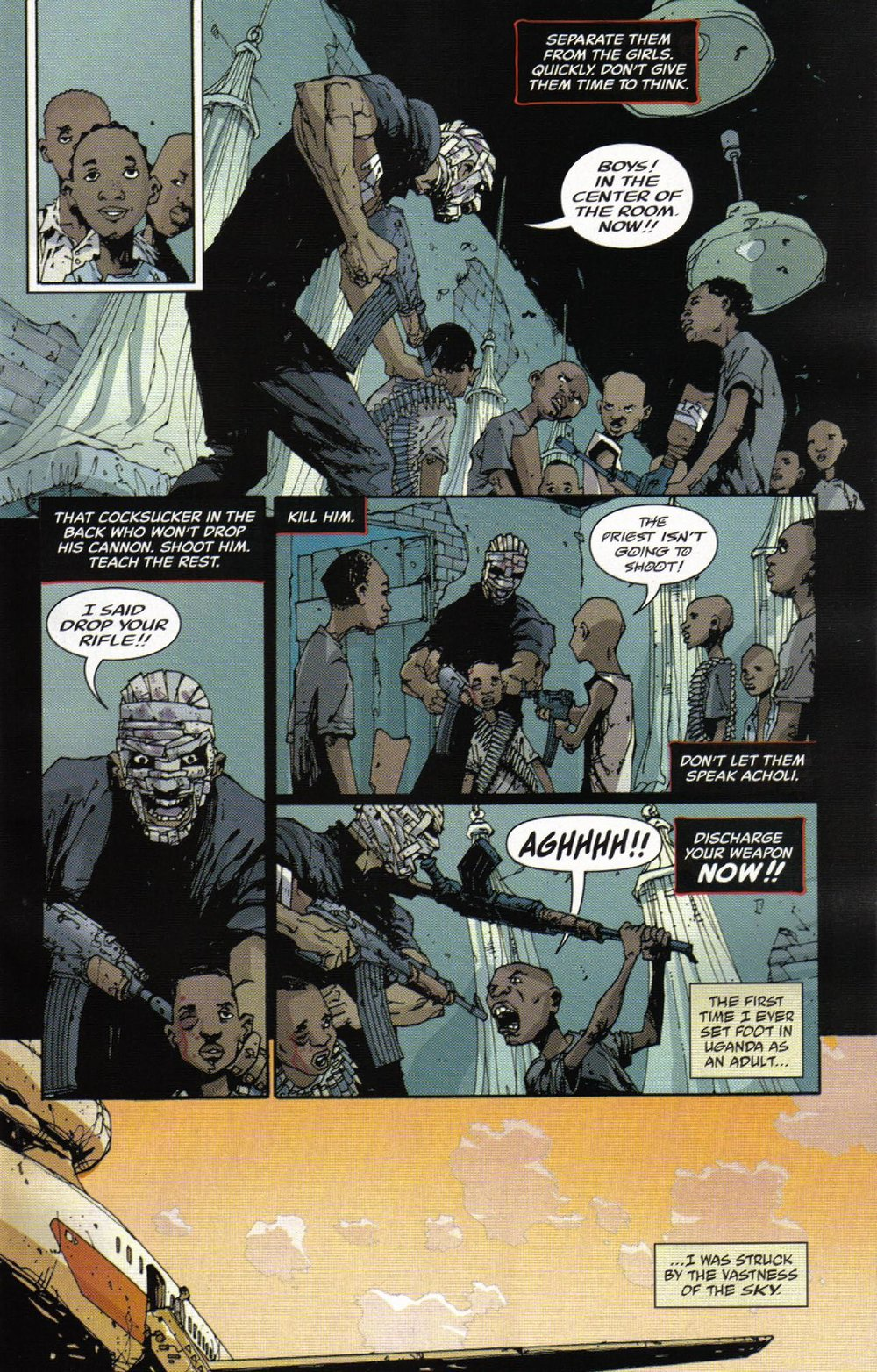 Unknown Soldier (2008) #3 pg.04, lettered by Clem Robins.