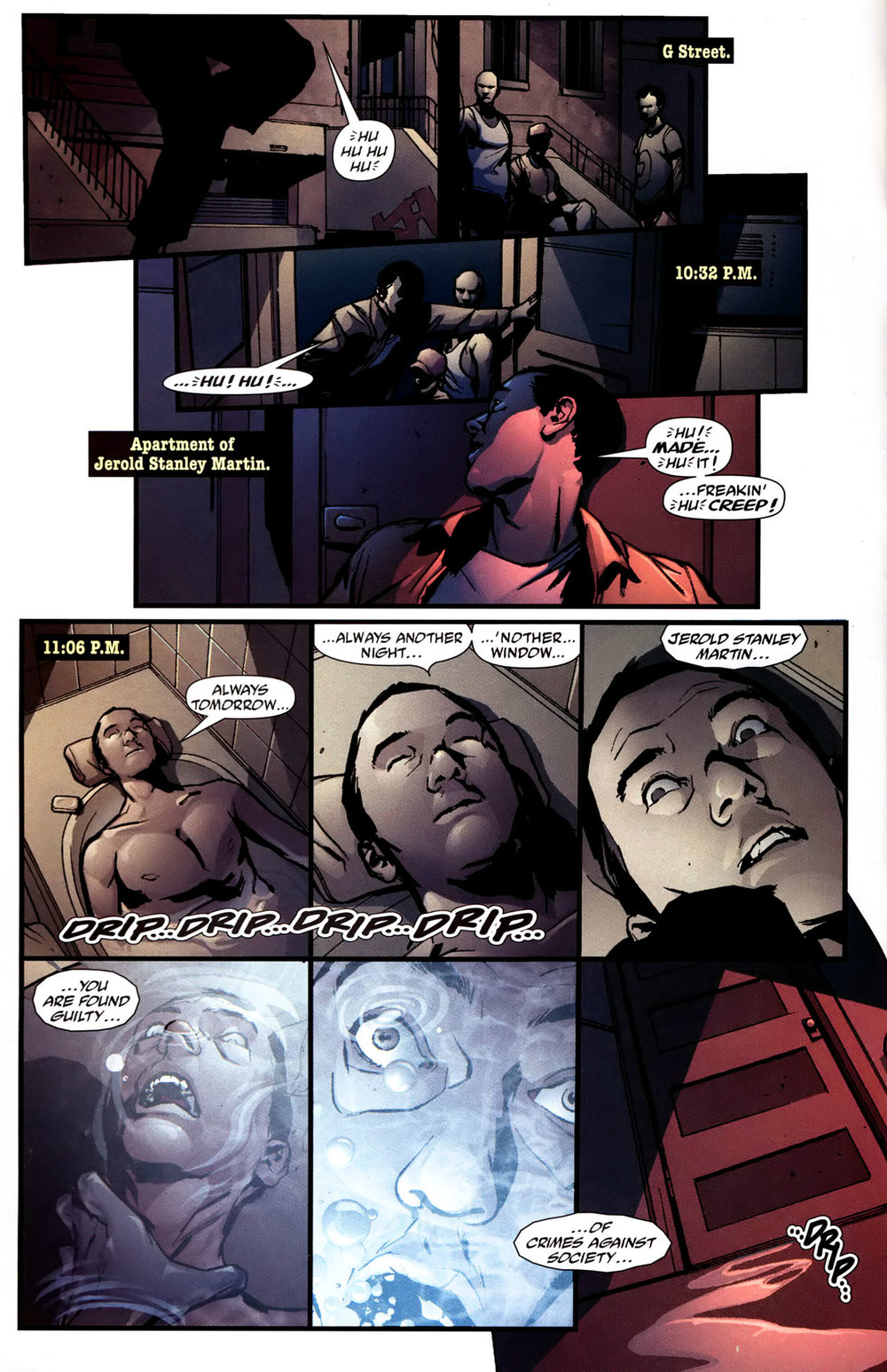 Vigilante (2005) #1 pg.06, lettered by Clem Robins.