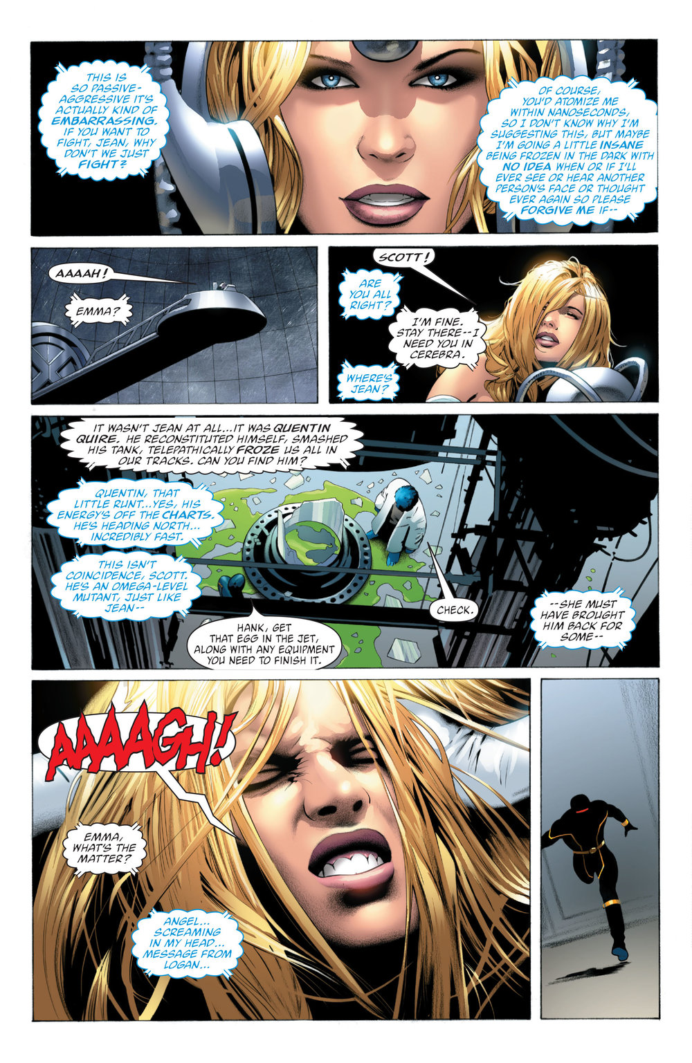 X-Men_ Phoenix Endsong (2005) #3 pg.06, lettered by Clem Robins.