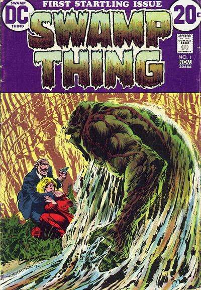 Swamp Thing (1972) #1, cover by Berni Wrightson.
