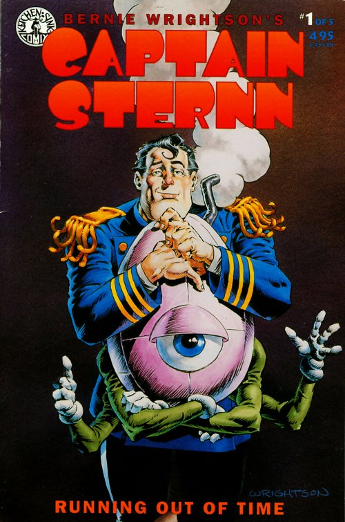 Captain Sternn_ Running Out Of Time (1993) #1, cover by Berni Wrightson.