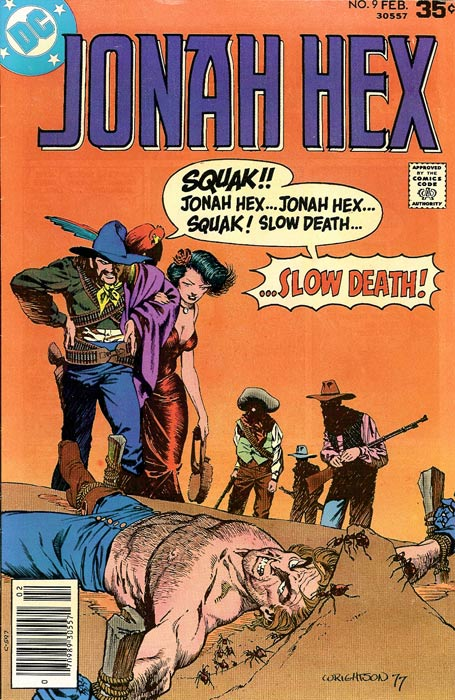 Jonah Hex (1977) #9, cover by Berni Wrightson.