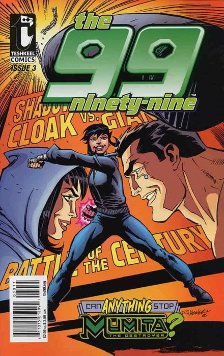 The 99 (2007) #3, cover penciled by Ron Wagner and inked by Joe Rubinstein.