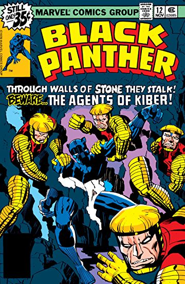 Black Panther (1977) #12, cover penciled by Jack Kirby and inked by Joe Rubinstein.