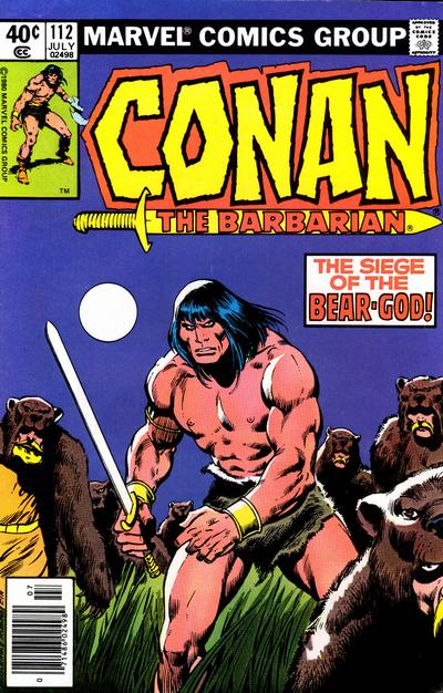 Conan the Barbarian (1970) #112, cover penciled by John Buscema and inked by Joe Rubinstein.