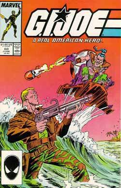 G.I. Joe A Real American Hero (1982) #60, cover penciled by Mike Zeck and inked by Joe Rubinstein.