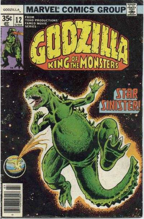 Godzilla (1977) #12, cover penciled by Herb Trimpe and inked by Joe Rubinstein.