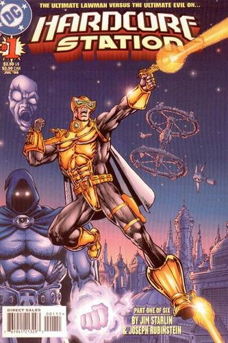 Hardcore Station (1998) #1, cover penciled by Jim Starlin and inked by Joe Rubinstein.