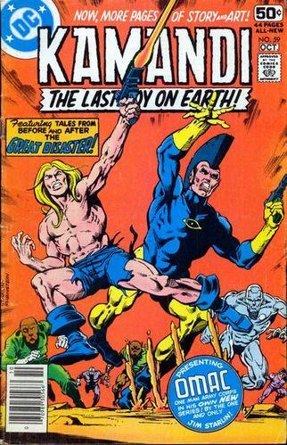 Kamandi (1972) #59, cover penciled by Jim Starlin and inked by Joe Rubinstein.