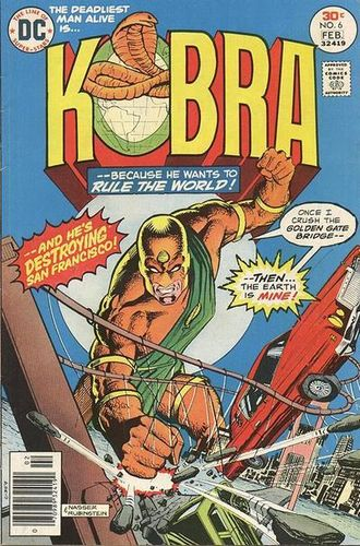 Kobra (1976) #6, cover penciled by Mike Nasser and inked by Joe Rubinstein.