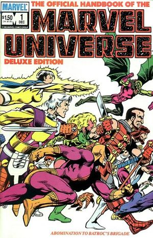 Official Handbook of the Marvel Universe: Deluxe Edition (1985) #1, cover penciled by John Byrne and inked by Joe Rubinstein.