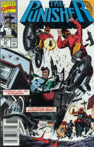 Punisher (1987) #43, cover penciled by Bill Reinhold and inked by Joe Rubinstein.
