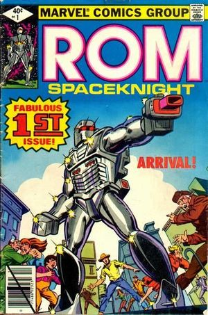 Rom (1979) #1, cover penciled by Frank Miller and inked by Joe Rubinstein.