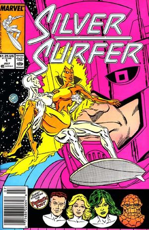 Silver Surfer (1987) #1 cover penciled by Marshall Rogers and inked by Joe Rubinstein.
