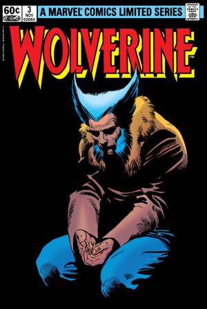 Wolverine (1982) #2, cover penciled by Frank Miller and inked by Joe Rubinstein.