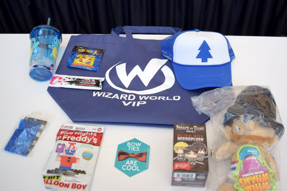 The Wizard World Des Moines 2018 VIP bag.