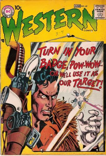 Western Comics (1948) #69, cover by Gil Kane and Jack Adler.