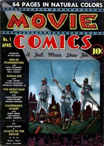 Movie Comics (1939) #1, cover by Jack Adler.
