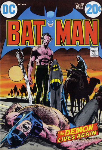 Batman (1940) #244, cover by Neal Adams and Jack Adler.