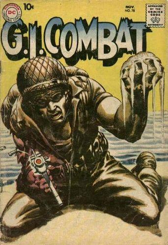 GI Combat (1952) #78, cover by Joe Kubert and Jack Adler.