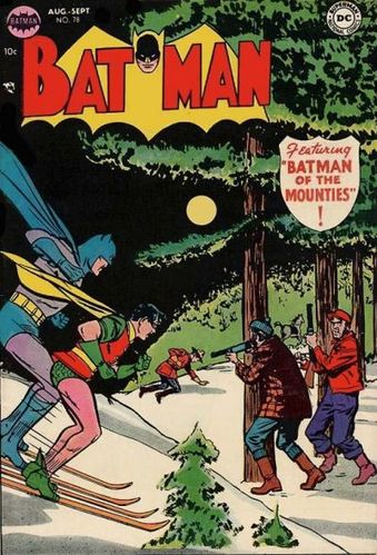 Batman (1940) #78, cover by Win Mortimer and Jack Adler.
