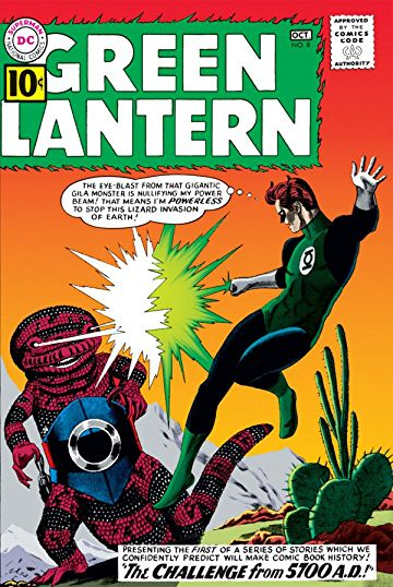 Green Lantern (1960) #8, cover by Gil Kane and Jack Adler.