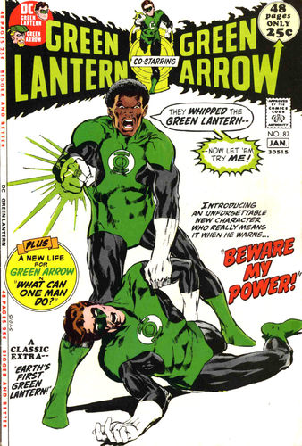 Green Lantern (1960) #87, featuring the first DC story from  Elliot S! Maggin :   What Can One Man Do?