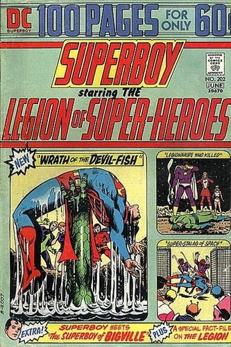 Superboy (1949) #202, containing Mike's first published DC work.
