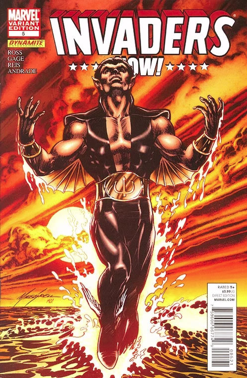 Invaders Now (2010) #5, variant cover by Mike Grell.