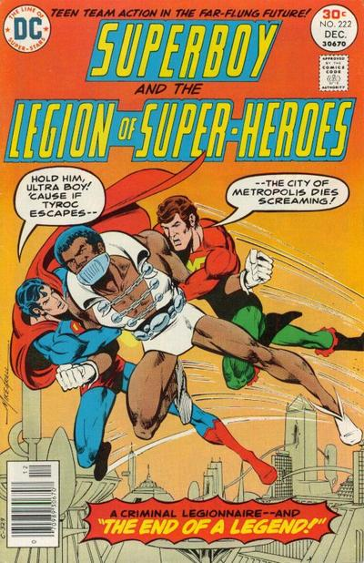 Superboy and the Legion of Super-Heroes (1976) #222, cover by Mike Grell.