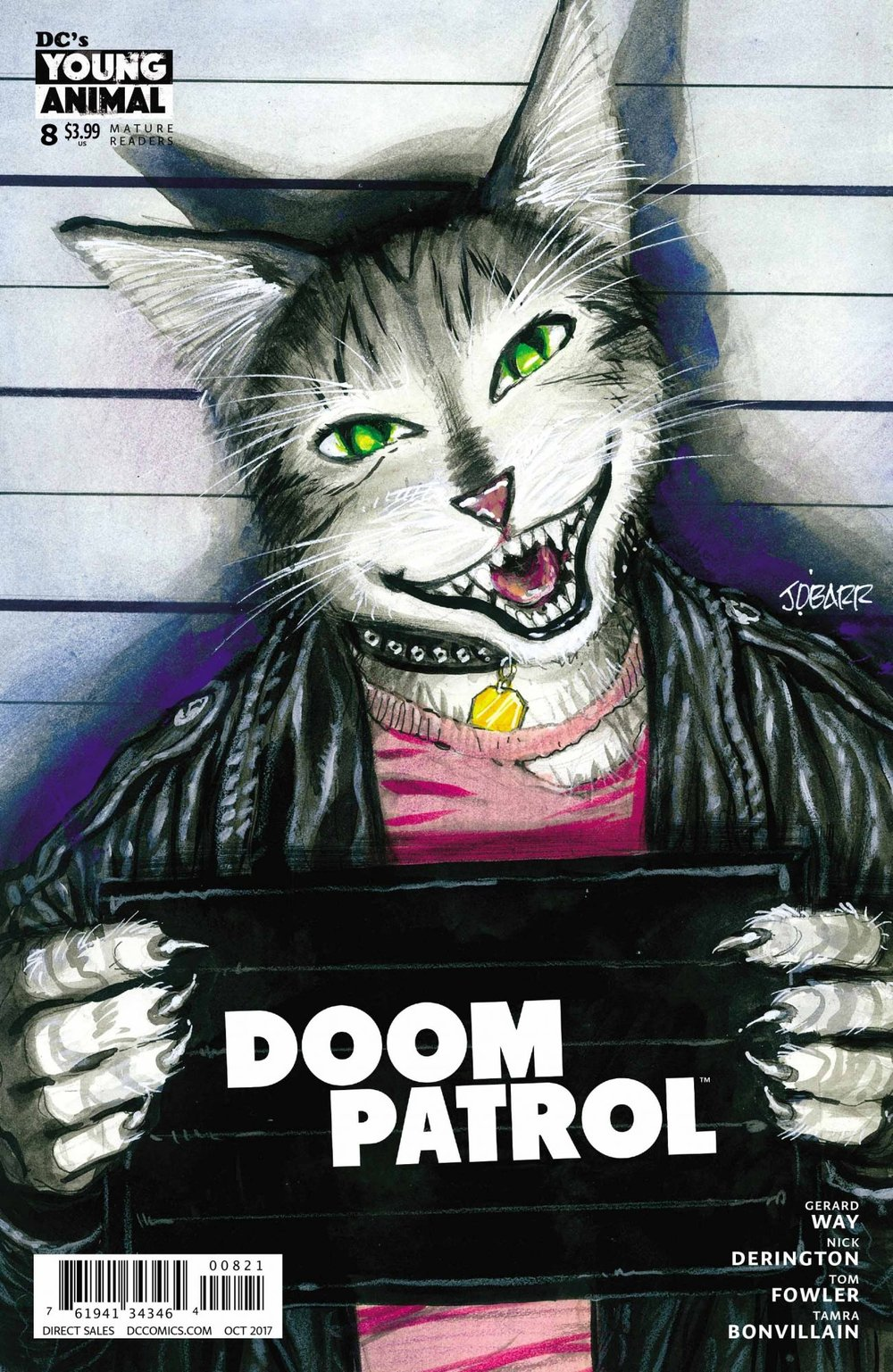 Doom Patrol (2016) #8  variant cover by  James O'Barr .