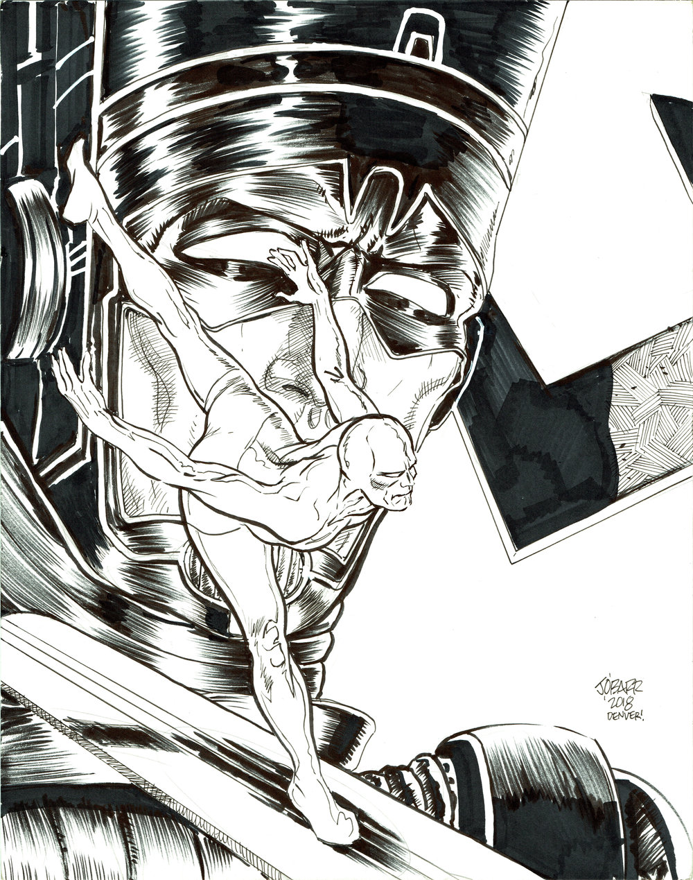Galactus/Silver Surfer  commission done in 2018 by  James O'Barr .