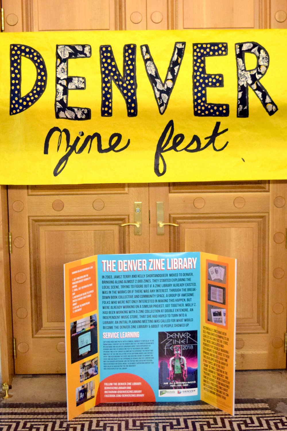 Denver Zine Fest 2018  entrance.