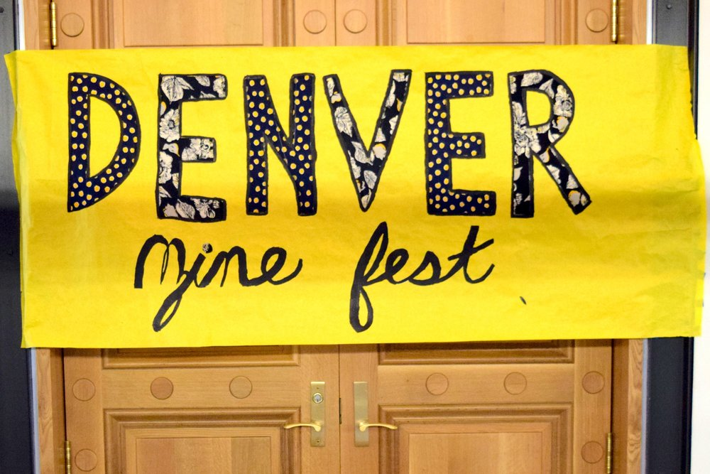 The  Denver Zine Fest 2018  entrance banner.