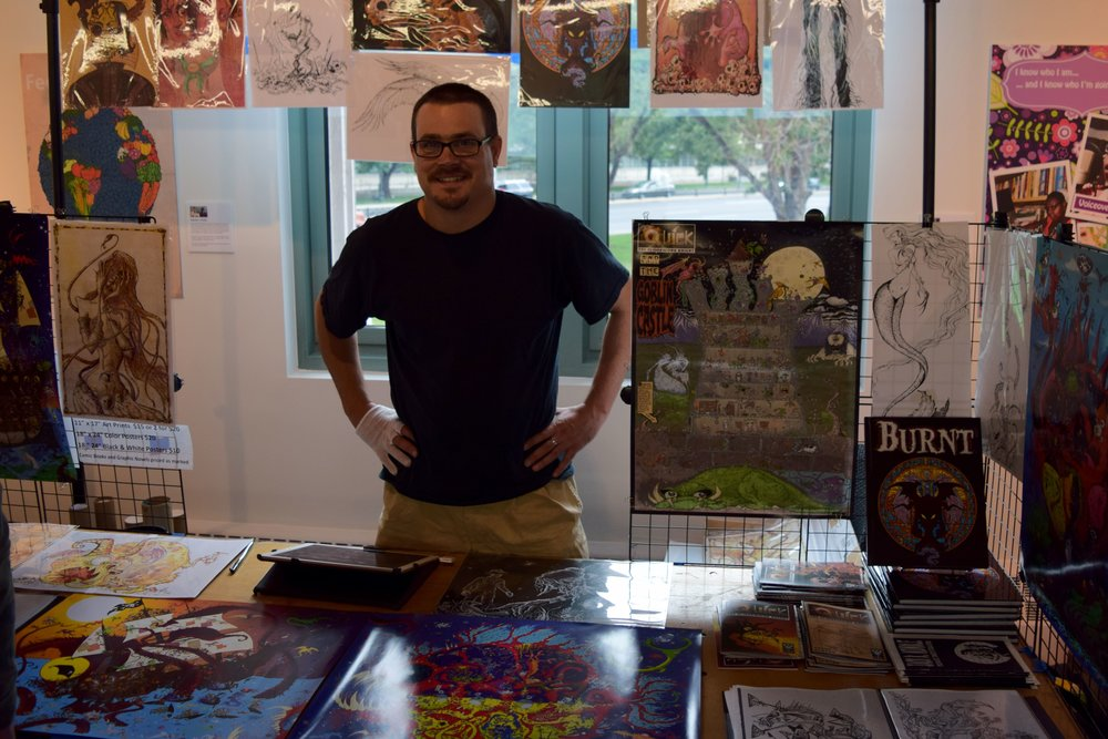 Thane Benson  at  Denver Zine Fest 2018 .