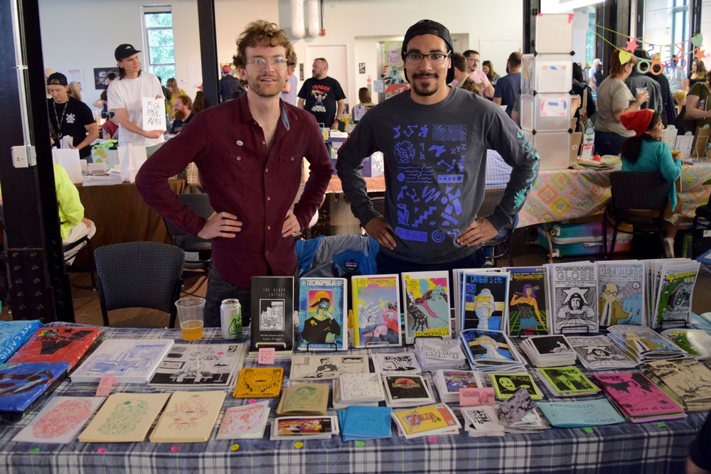 Zac Finger at Denver Zine Fest 2018.